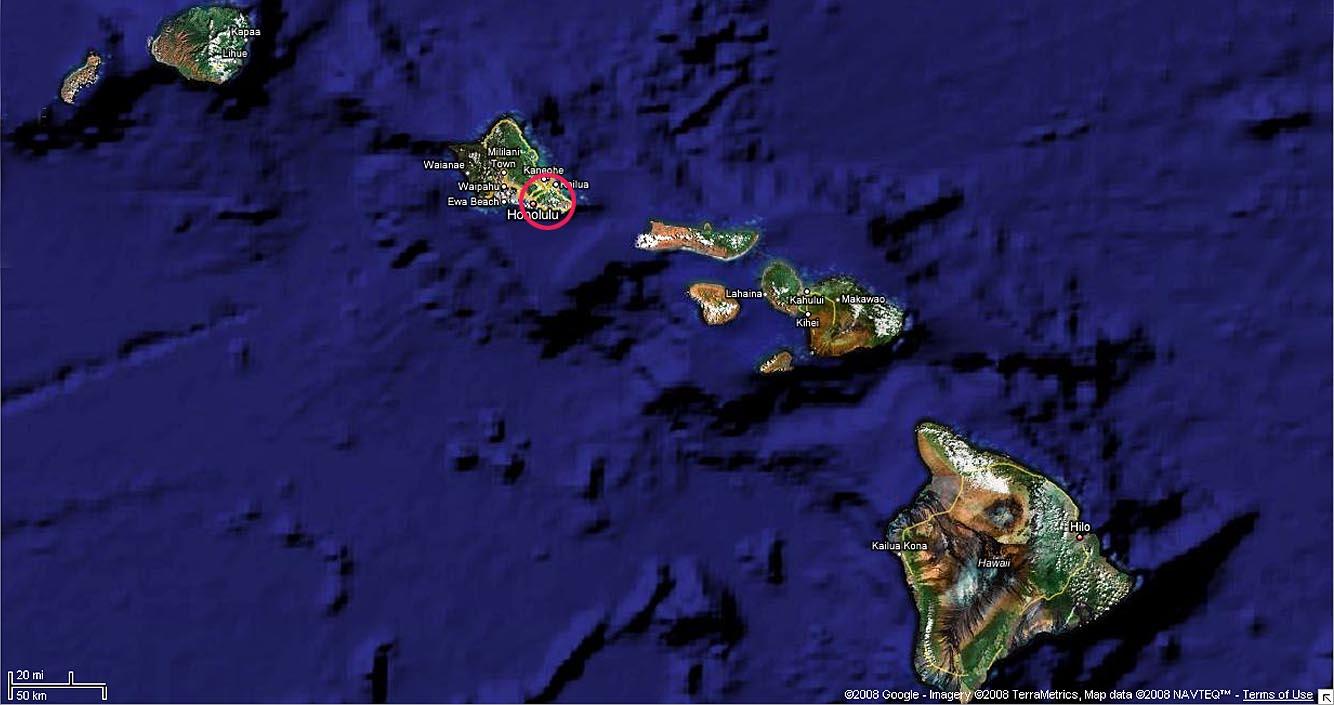 Google Map Hawaiian Islands - Map of hawaiian islands